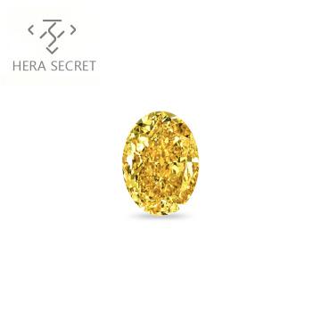 ForeverFlame  fancy yellow 1ct 5mm*7mm vvs Oval Cut diamond CVD CZ Moissanite