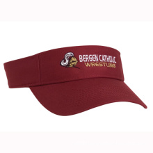 Women Sunvisor Cap with Front Logo Embroidery (GKA12-A0005)