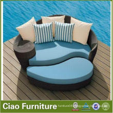 Morden Design Outdoor Pool Side Rattan Daybed with Ottoman (FL-015)