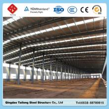 Estrutura de estrutura de aço leve pré-fabricada Construção de oficinas