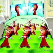 Catoon Design Tissu de lit pour textile maison à Gutemala