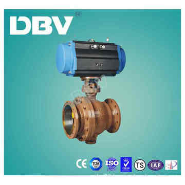 Pheumatic Wcb Casting Steel Metal Seated Ball Valve