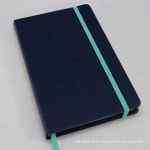 Popular de alta qualidade marfim papel elástico gabinete pu notebook, caderno de papel personalizado
