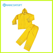 0.35mm 3PCS PVC / Polyester Rainsuits