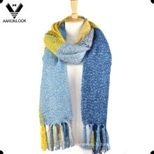Высокая мода проверено Петля пряжи шарф с бахромой