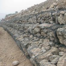 Muro de contención de la jaula de gaviones roca enrejada