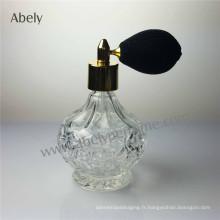 Flacon de verre avec bouteille de parfum avec atomiseur de pulvérisateur