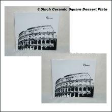 Rome Plaque carrée en porcelaine de 22 cm pour BS130601A