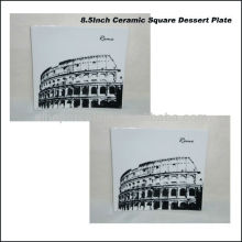 Rome 22CM Porcelain Square Plate For BS130601A