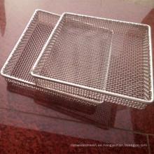 Cesta médica de los divisores de la bandeja del acero inoxidable del diámetro del alambre de 0.8mm 1m m 1.5mm