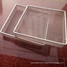 304 316 316L Stainless Steel Wire Mesh Basket For Heat Industry