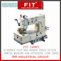 8-Needle Flat-Bed Double Chain Stitch Sewing Machine for Attaching Line Tapes (1408PL)