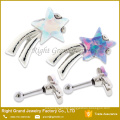 Surgical Steel Star Opal Prong Set Ribbon Ear Tragus Cartilage Piercing