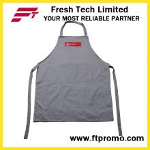 100% poliéster / algodão OEM Custom Printing promocionais Kitchen Bib Apron
