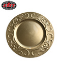 Luxury Gold Plastic Plate with Metallic Finish