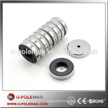 Ferrite POT Magnet D50x10mm with 6.5mm Hole