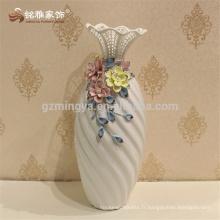 2017 décoration en céramique fleur vase style européen unique vases en céramique dorée