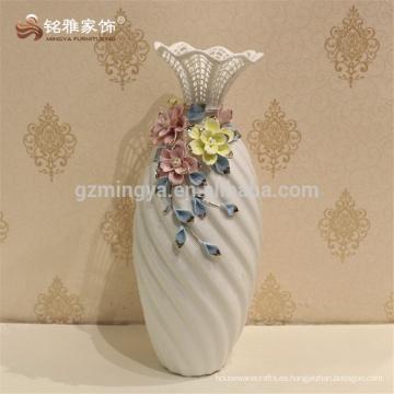 2017 cerámica decoración casera jarrón de flores estilo europeo único vasos de cerámica de oro