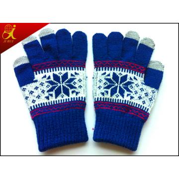 Luvas de tela de toque de Inverno menina