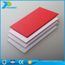 Nueva lámina de policarbonato de difusión de luz de plástico duro barata gruesa de la mejor calidad 16m m del estilo