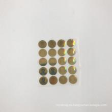 etiqueta engomada del holograma de la etiqueta del holograma que destella 3D del color oro con su logotipo