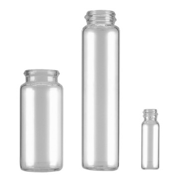 Glass Vials with Snap-On Caps