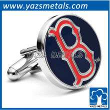 personalizar abotoaduras de metal, feito sob encomenda de Boston Red Sox- B cufflnks