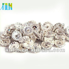 BB084 Solta strass cristal Rondelle Spacer Beads