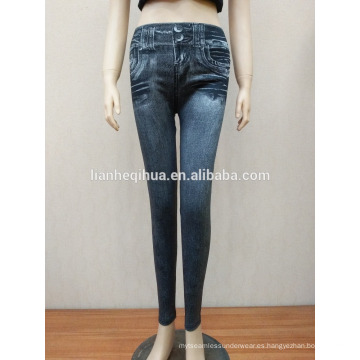 Nueva moda estilo Sliming Jean Leggings con bolsillos reales