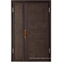 Solid Customized Color Entrance Compound Security Door Cast Aluminum Door