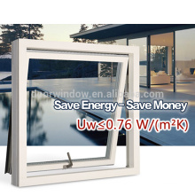 Unique products aluminum wooden window for passive house from china