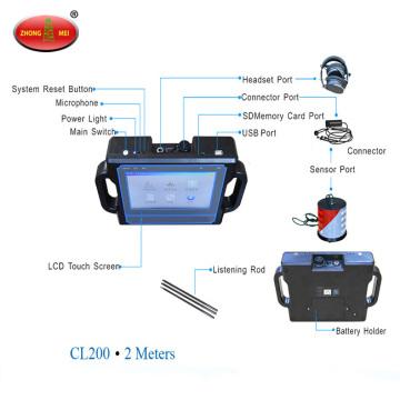 2m Ultrasonic Underground Pipes Detector De Vazamento De Água