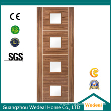 Porte de placage en bois de haute qualité de forces de défense principale de HDF pour des hôtels