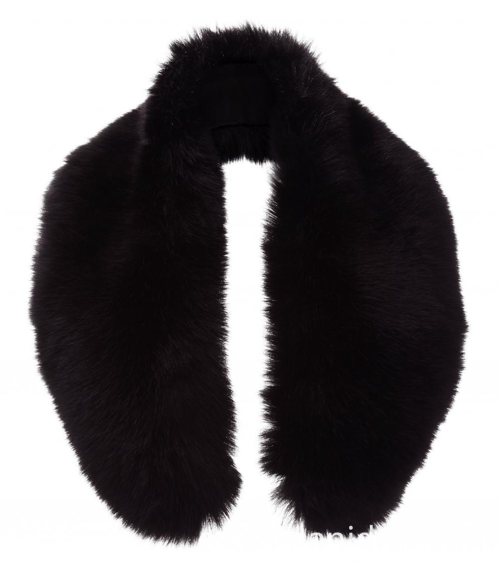 Black Faux Fur Oversized Collar