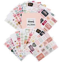Etiquetas do calendário Etiquetas decorativas feitas sob encomenda do planejador da etiqueta impermeável do PVC