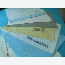 Disposable Nonwoven Airplane Headrest Cover RPET Pillow Case
