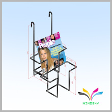 commercial metal wire hanging wall mount magazine rack