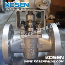 Reborde de acero fundido válvulas (X343)