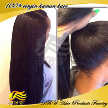 Factory price high quality glueless high ponytail full lace wigs with baby hair