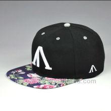 Chapéus bonitos feitos sob encomenda do snapback da flor