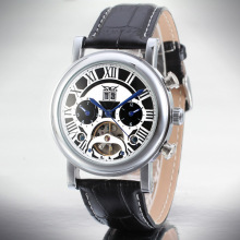 3Atm Leather Band Automatic Wrist Man Watch
