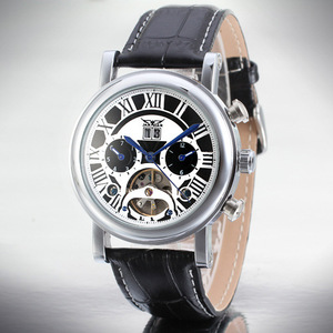 Alloy Case Tourbillon Automatic Watch Date Hommes