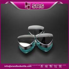 J080 triangle forme luxueux soin de la peau crème jar, crème cosmetique vide jar