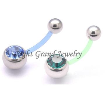 Piercing de umbigo de anel de barriga flexível gravidez Flex Flex