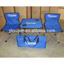 Mesa dobrável portátil e conjunto de cadeiras para acampamento e piquenique ao ar livre