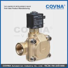 Latão / SS água, ar, óleo, válvula solenóide de gás normalmente aberta