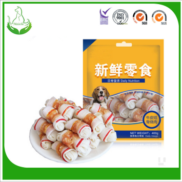 chicken wrapped with rawhide dog treats