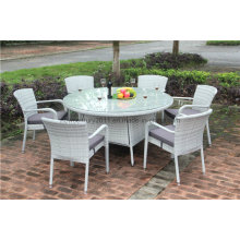 Outdoor Rattan Garden Wicker Big Dining Table and Chair