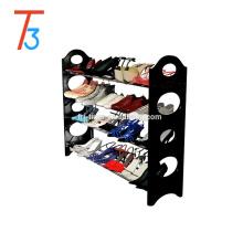 Стекируемая скамейка для хранения органайзера для обуви 4 уровня