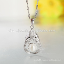 Best Selling Factory Product 925 Silver Necklace Pearl Silver Necklace Designs for Gilrs Wholesale SCR025